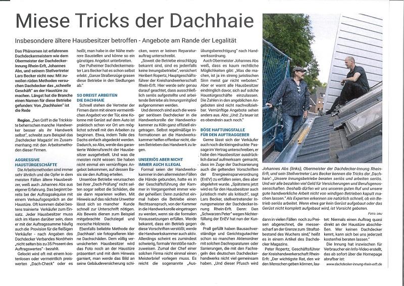 MIESE TRICKS DER DACHHAIE